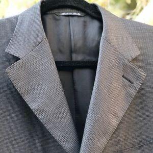 NW CANALI Silk Wool Plaid Sport Coat, Size 44R
